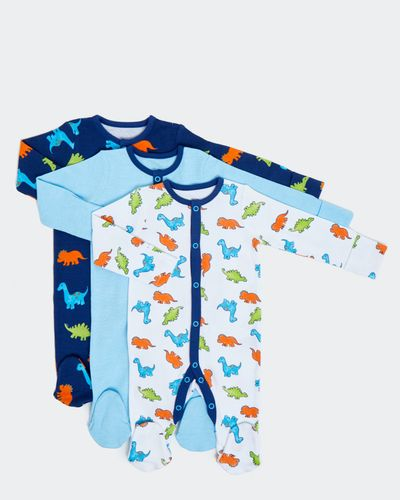 Dino Sleepsuits - Pack Of 3 (0-18 months)