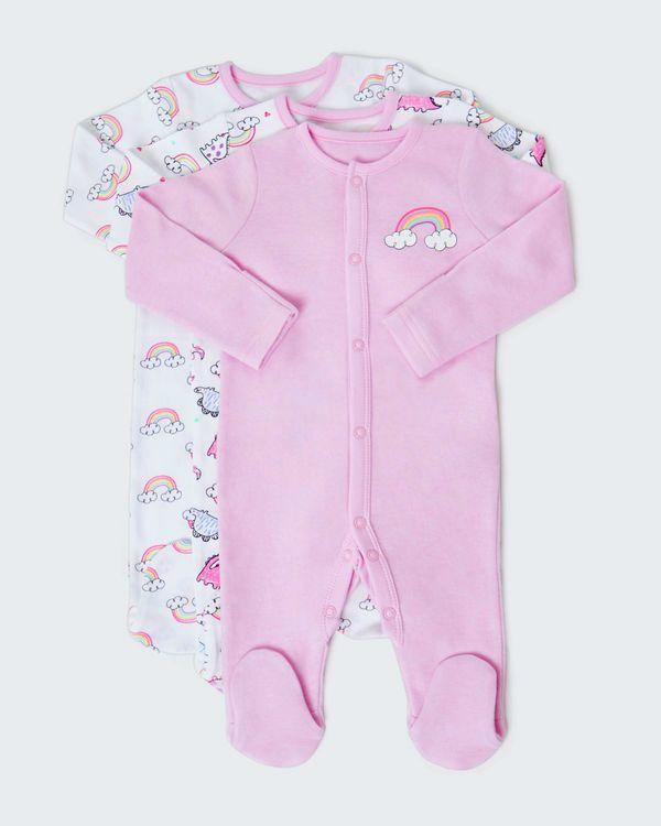Rainbow Sleepsuit - Pack Of 3 (Newborn - 23 months)