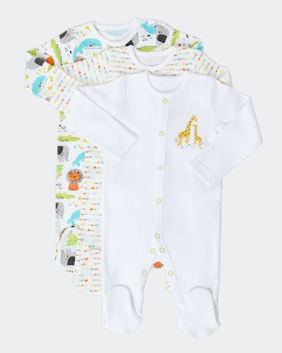 Jungle Sleepsuit - Pack Of 3 (Newborn-9 months)