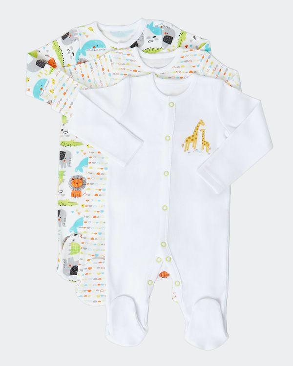 Jungle Sleepsuit - Pack Of 3 (Newborn-9 months)