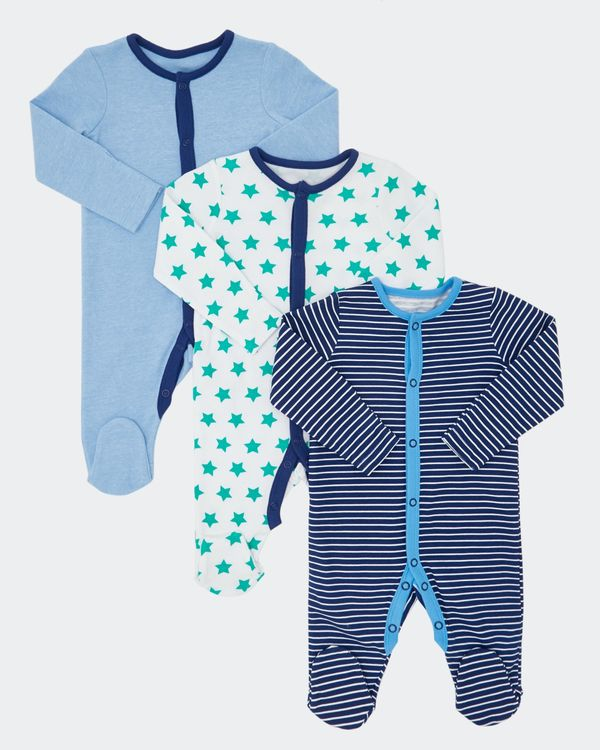 Star Sleepsuit - Pack Of 3 (0-23 months)