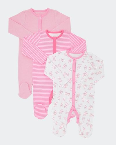 Heart Sleepsuit - Pack Of 3 (0-23 months)