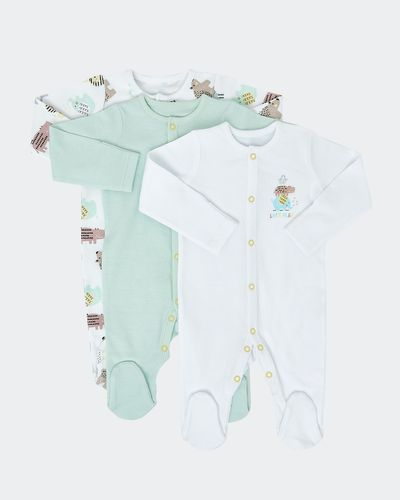 Unisex Sleepsuit - Pack Of 3 (Newborn-6 months)