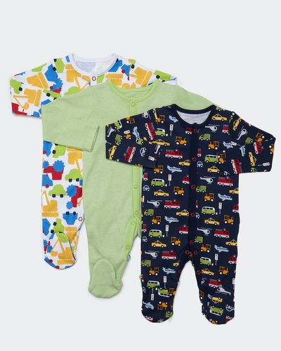 Car Sleepsuits - Pack of 3 (Newborn-23 months) thumbnail