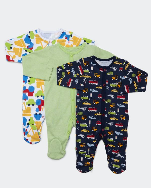 Car Sleepsuits - Pack of 3 (Newborn-23 months)