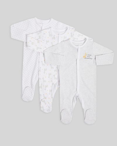 Giraffe Sleepsuit - Pack of 3 (Newborn-6 months)