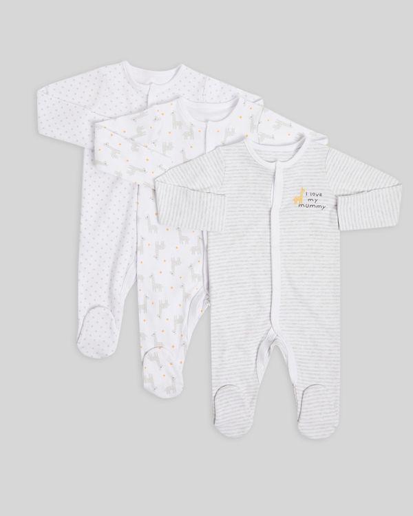 Giraffe Sleepsuit - Pack of 3 (Newborn-6 months)