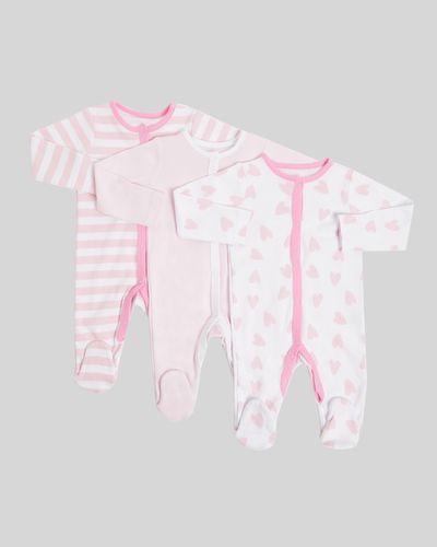 Heart Sleepsuit - Pack of 3 (Newborn-23 months)