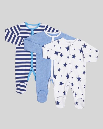 Star Sleepsuits - Pack Of 3 (Newborn-23 months)