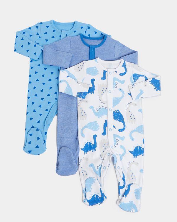 Dino Sleepsuit - Pack Of 3 (Newborn-23 months)