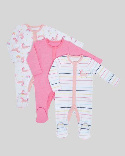 Unicorn Sleepsuit - Pack Of 3 (Newborn-23 months) thumbnail