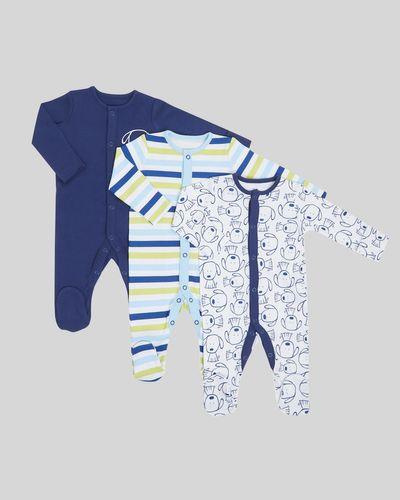 Puppy Sleepsuit - Pack Of 3 (Newborn-23 months)