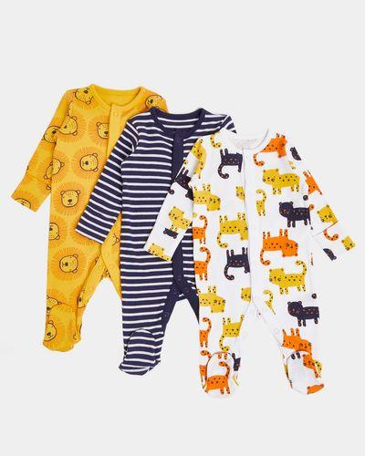 Lion Sleepsuits - Pack Of 3 (Newborn - 23 months)