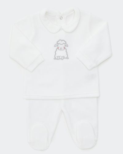Sheep Velour Two Piece Set (Newborn - 6 months) thumbnail