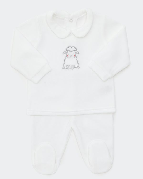 Sheep Velour Two Piece Set (Newborn - 6 months)