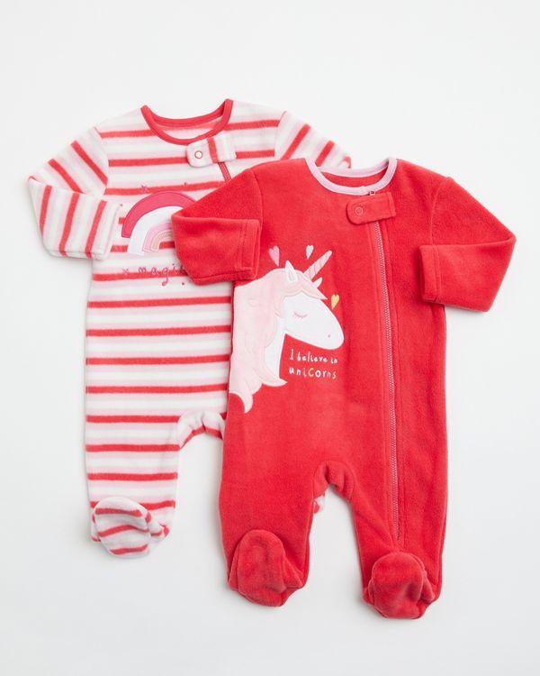 Unicorn Fleece Walker - Pack Of 2 (0-23 months)