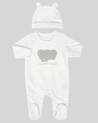 Texture Velour Sleepsuit (Newborn-12 months)