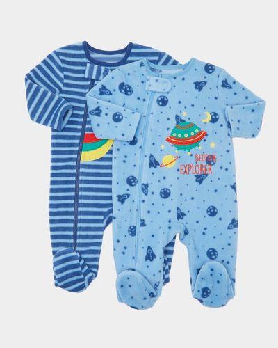 Rocket Fleece Sleepsuits - Pack Of 2 (0-23 months) thumbnail