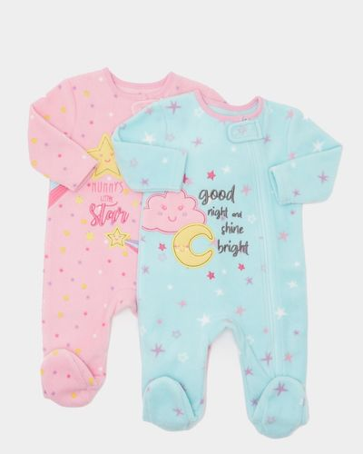 Star Fleece Sleepsuits - Pack Of 2 (0-23 months)
