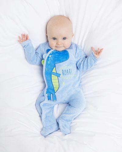 Dino Velour Sleepsuit (Newborn-12 months) thumbnail