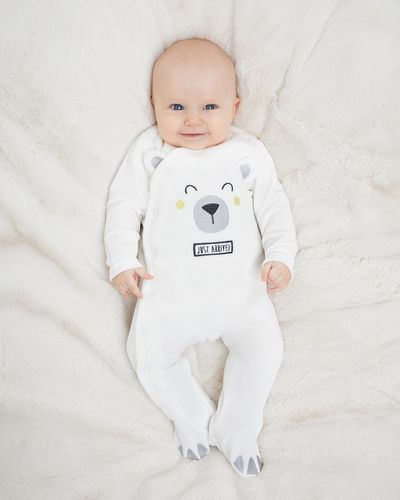 Bear Velour Sleepsuit (Newborn-9 months)