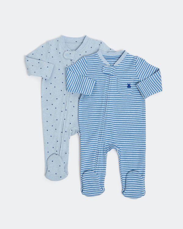 Zip Sleepsuit - Pack Of 2 (Newborn-18 months)
