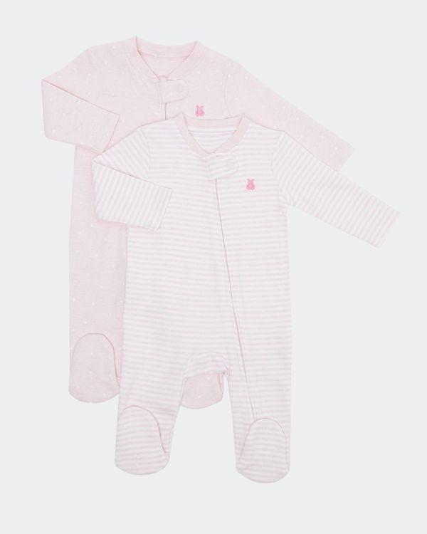 Two-Pack Zip Sleepsuit (Newborn - 18 months)