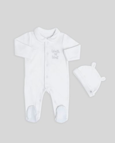 Organic Cotton Velour Sleepsuit Set (Newborn-12 months)