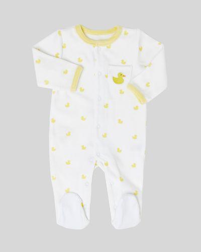 Duck Velour Sleepsuit (Newborn-9 months)