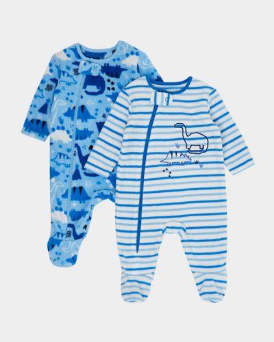 Dino Fleece Sleepsuits - Pack Of 2 (0-23 months)