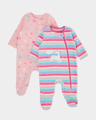 Unicorn Fleece Sleepsuit - Pack Of 2 (0-23 months)
