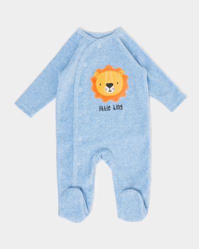 Lion Velour Sleepsuit (Newborn - 12 months)