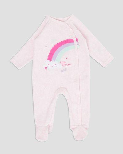Rainbow Velour Sleepsuit (Newborn - 12 months)