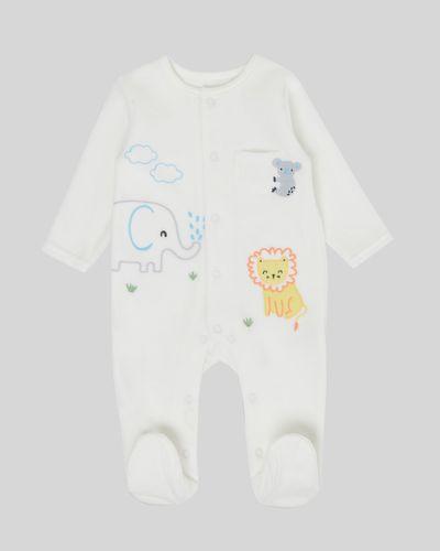 Animal Velour Sleepsuit (Newborn - 9 months)