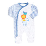 blue Lion Velour Sleepsuit