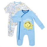 blue-white Lion Sleepsuit - Pack Of 2