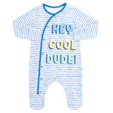 blue Boys Slogan Sleepsuit