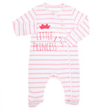 pink Girls Slogan Sleepsuit