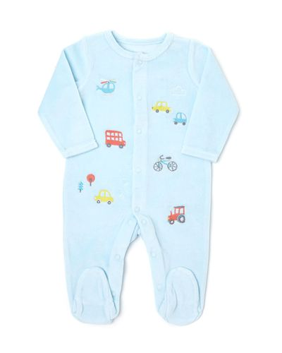 Transport Velour Sleepsuit
