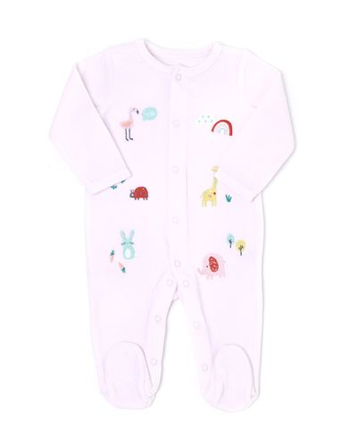Animal Velour Sleepsuit