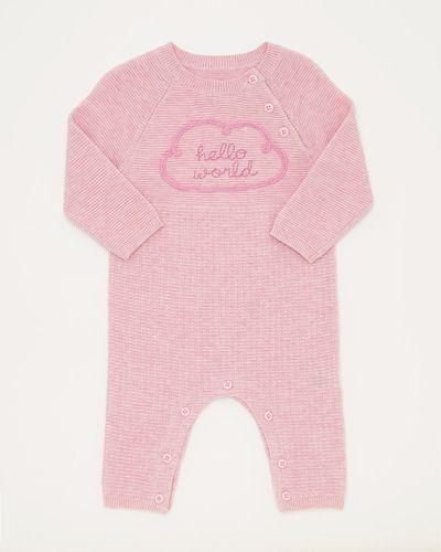 Pink Knit Romper (0-12 months)