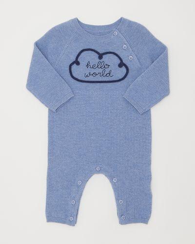 Blue Knit Romper (0-12 months)