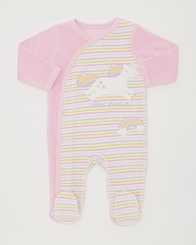 Unicorn Velour Sleepsuit