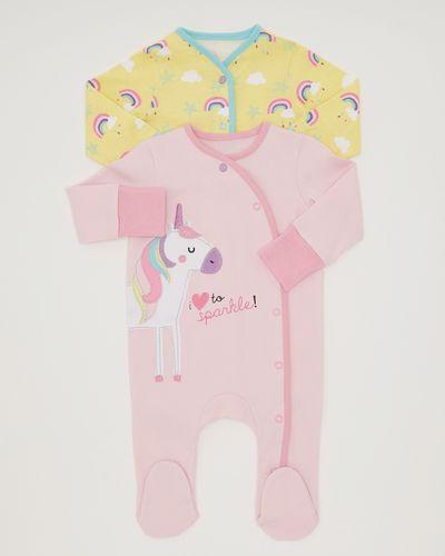 Unicorn Sleepsuit - Pack Of 2 (Newborn-18 months)