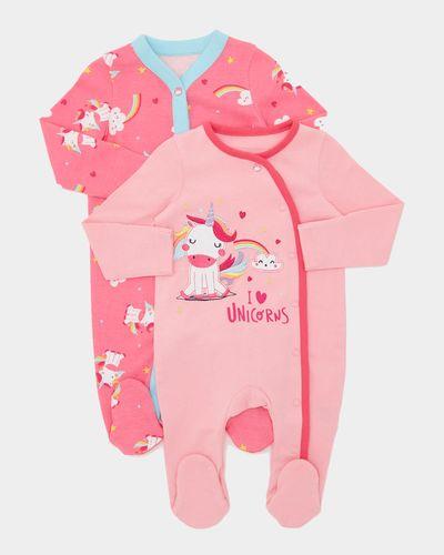 Unicorn Sleepuit - Pack Of 2