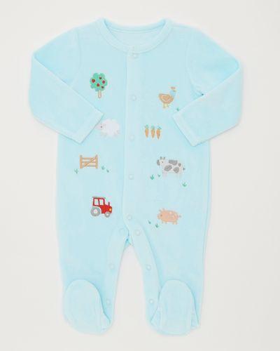 Farm Animal Velour Sleepsuit (Newborn-12 months)