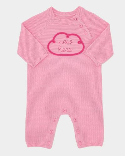 Pink Knit Romper (0-12 months) thumbnail