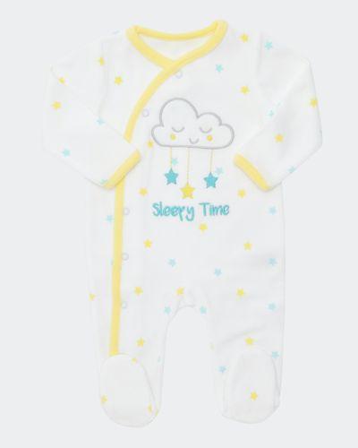 Cloud Velour Sleepsuit (Newborn-6 months)