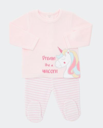 Two-Piece Unicorn Velour Set (Newborn-9 months) thumbnail