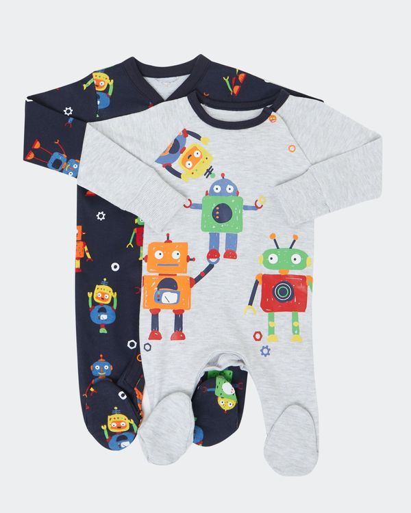 Robot Sleepsuit - Pack Of 2